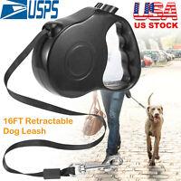 Retractable Dog Leash Walking 16ft Heavy Duty Nylon Cord S/M Pets Waterproof