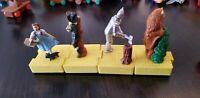 Vintage WIZARD of OZ Yellow Brick Road Train McDonalds Happy Meal Toy Set 4