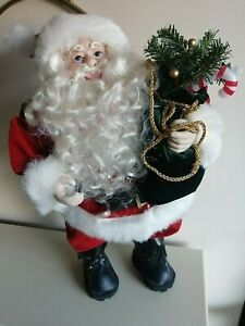 Christmas Standing Santa Doll Decoration  17""