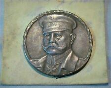 Hindenburg German Medal .900 silver 34mm Diameter from Old Estate (186)
