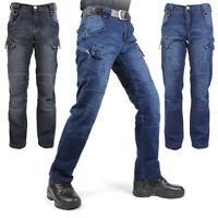 Hot Men's Denim Tactical Pants Trousers Jeans Outdoor Sports Travel Flexible New