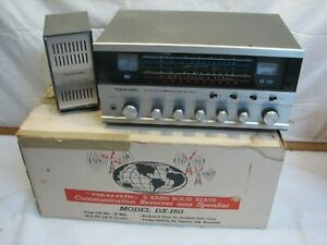 Realistic 5-Band Solid State Radio Receiver Shortwave AM Table Top w/Speaker Box