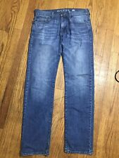 GUESS - 'LINCOLN' SLIM Fit STRAIGHT Leg Blue Jeans - Men 30 x 32 - AA25
