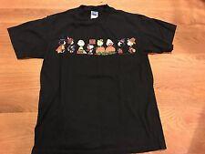 "Mens Peanuts Halloween ""TRICK OR TREAT"" Snoopy Black Graphic T-Shirt Size Medium"