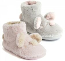 BRAND NEW LADIES PINK SHAGGY BOOT SLIPPERS sizes 3-8