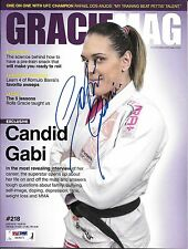 Gabi Garcia Signed June 2015 Gracie Magazine PSA/DNA COA Rizin FF Jiu-Jitsu Auto