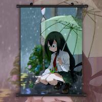 Asui Tsuyu My Boku no Hero Academia HD Print Anime Wall Poster Scroll Room Decor