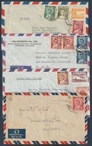 Thailand 1951-61 four nice covers, 3 Air Mail, one local (with letter)