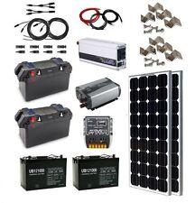 Solar Power Generator - Solar Panel, 2 Inverters, Battery, Box, Solar Charger