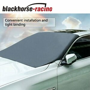 Universal Fit Windshield Sunshade For Cars-Car Windshield Cover For Snow And Ice Frost-Snow Removal Shield Windscreen Cover Kermit The Frog Sipping Tea
