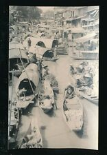 Thailand BANKOK Floating Market animated c1920/30s RP PPC