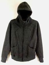 Lululemon Size 8 On The Daily Fleece Dark Heathered Charcoal Gray Hoodie Jacket