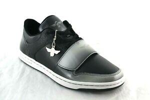 MEN'S Creative Recreation Cesario Lo Black SILVER Gradient Patent Leather Shoes