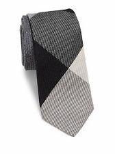 NWT MEN Burberry London Manston Wool Silk Tie LIGHT GREY MELANGE MSRP $190