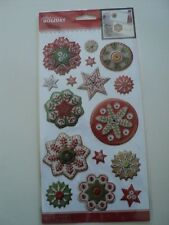 EK SUCCESS JOLEE'S BOUTIQUE HOLIDAY SNOWFLAKES EPOXY STICKERS BNIP *LOOK*