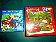 24 piece Disney Pixar Cars jigsaw puzzle Ideal Race Day 63 piece EACH MISSING 1
