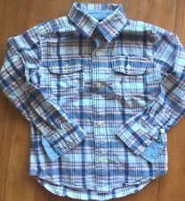 Carter's Plaid Long Sleeve Button  Down with Pocket SZ 4T