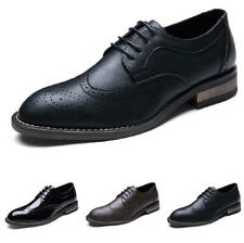 Brogue Mens Dress Formal Business Shoes Carved Pointy Toe Work Office Wedding D