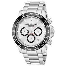 Stuhrling 891 01 Formulai Quartz Chronograph Stainless Steel Date Mens Watch