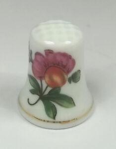 dé à coudre en porcelaine ,thimble,vingerhoed, décor fleurs  *17-D