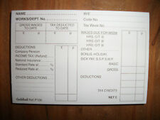 2 x 100 SHEET GUILDHALL PAYE WAGE SLIPS PADS - P100 - ONLY £4.99
