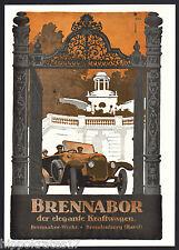 BRANDENBURG, Werbung 1919, Brennabor-Werke Auto Reklame (C) car voiture