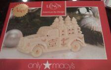 Lenox Mistletoe Village Truck with Trees Nib mint