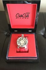 GaGa MILANO MANUALE 48mm SS/RED LEATHER BAND