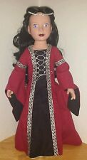 "BEAUTIFUL!! Carpatina Dolls Veronika Medieval Princess 18"" Doll."