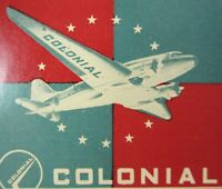 Vintage Airline Luggage Label Canadian Colonial Airways Airlines DC-3 1940-50s