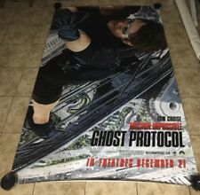 Mission Impossible Ghost Protocol Movie Theater Vinyl Banner 8'x 6' Authentic
