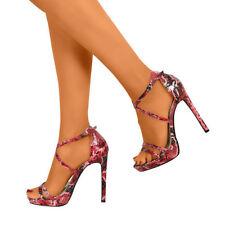 Calzado de mujer rosa sintético, talla 37