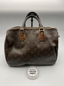 Louis Vuitton Authentic Monogram Speedy 30 Hand Bag from 80s Rare True Vintage