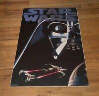 1995 STAR WARS Death Star X-Wing fighter Tie Fighter Darth Vader Sealed  Poster