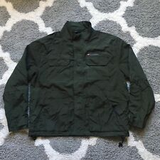 Vintage Tommy Hilfiger Green Army Rain Coat Jacket Size Large