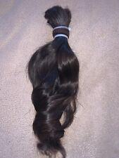 Human hair Cut 117g Haircut ponytail for wig extensions 0029 Dark Brown Virgin