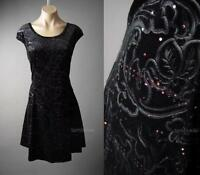 Velvet Black Romantic Goth Holiday Evening Party Skater 121 mv Dress 1XL 2XL 3XL