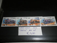 "TURKS CAICOS 1991 ""TRAINS"" MNH** LOT (CAT.2)"