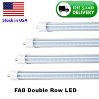 "T8/T10/T12 8FT LED Tube Light 96"" Single Pin FA8 Base 65w 5000K Clear Cover Bulb"