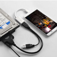 "USB 2.0 To SATA Hard Drive 2.5""/3.5"" HDD SSD External Converter Adapter Cable"