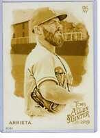 Jake Arrieta 2019 Allen and Ginter 5x7 Gold #249 /10 Phillies