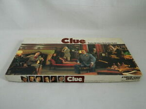 1972 Clue Game Replacement Box