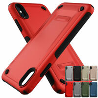 Hybrid Rubber Rugged Shockproof Case Cover For iPhone XS Max XR X 8 7 6 6s Plus