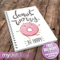 WEIGHT LOSS DIARY - Donut Worry (G032W) 12wk journal food diary weight loss diet