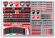 Multistrada 1200 1200s motorcycle fairing stickers decals for Ducati Laminated