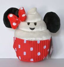 "Disney Theme Parks Minnie Mouse Cupcake Emoji Food 9"" Plush Toy NWT Ships Free"