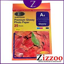A4 GLOSSY PREMIUM PHOTO PAPER 180GM A GRADE FOR ALL INKJET PRINTERS.