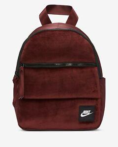 NIKE Burgundy Velvet Mini Backpack Bag RRP £27