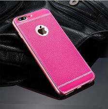 For iPhone XS Max XR 8 6 7 Plus SE Luxury Thin PU Leather Soft Phone Case Cover
