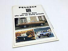 1981 Peugeot 504 505 604 Full Line Brochure